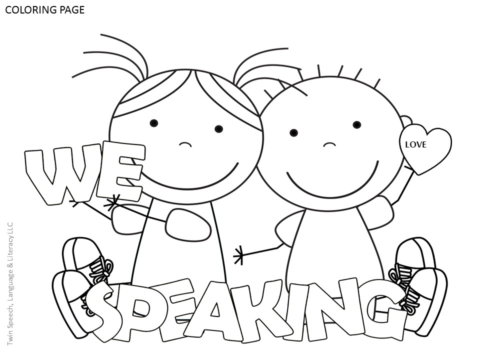 speech coloring pages free speech therapy door signs coloring pages twin