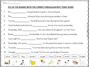 Worksheets Irregular Past Tense Verbs Worksheets irregular past tense verbs worksheets sharebrowse of sharebrowse